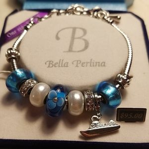 Bella Perlina Bracelet New in Box blue and silver